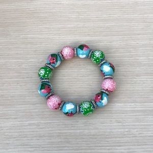 Angela More Classic Bead Bracelet Winter Theme